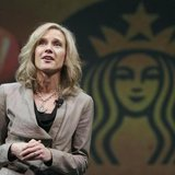 Michelle Gass, president of Starbucks Europe, Middle East and Africa (EMEA), speaks to shareholders during Starbucks' Annual Meeting of Shar