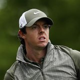 Rory McIlroy of Northern Ireland watches his tee shot on the third hole during the third round of the Wells Fargo Championship PGA golf tour