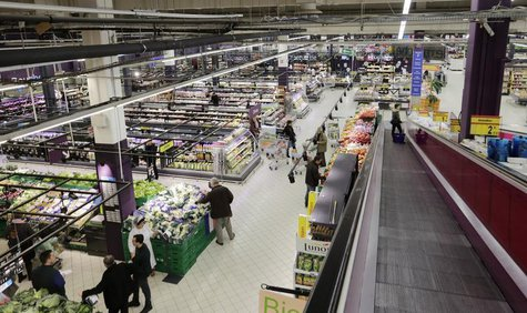 General view of Carrefour's Bercy hypermarket in Charenton, a Paris suburb, February 8, 2013. REUTERS/Jacky Naegelen