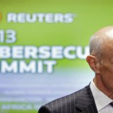 Former Homeland Security Secretary Michael Chertoff, Vice President of Cyber Security for The Chertoff Group, attends the Reuters Cybersecur