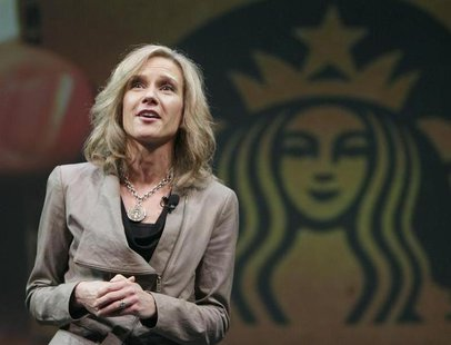 Michelle Gass speaks to shareholders during Starbucks' Annual Meeting of Shareholders in Seattle, Washington March 21, 2012. REUTERS/Robert