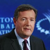 "Television host Piers Morgan hosts a conversation titled ""Communication by Design: Inspirational Change"" during the final day of the Clinton"
