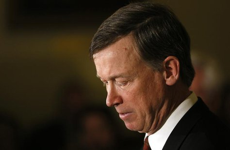 Colorado Governor John Hickenlooper becomes emotional as he discusses the shooting death of Tom Clements, the head of Colorado state's priso