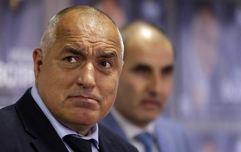 GERB party leader Boiko Borisov reacts as he arrives for a news conference in Sofia May 16, 2013. REUTERS/Stoyan Nenov