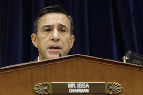 Committee Chairman U.S. Representative Darrell Issa (R-CA) holds a House Oversight and Government Reform Committee hearing on alleged target