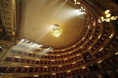 An overview of La Scala opera house is seen in this undated photo released by La Scala press office in Milan on April 20,2012. REUTERS/Bresc