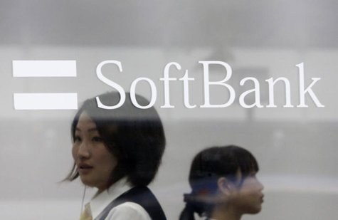 Softbank Corp's logo is pictured at its branch in Tokyo April 17, 2013. REUTERS/Yuya Shino