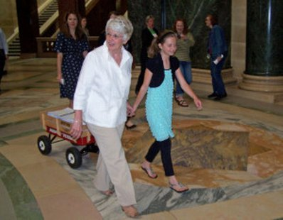 Petitions begin delivered at the state capitol in Madison (Photo: Wisconsin Radio Network)
