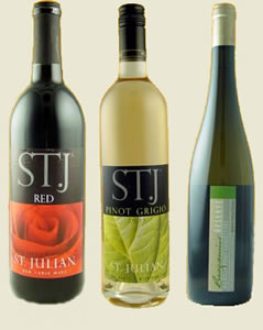 St. Julian, a Michigan made wine