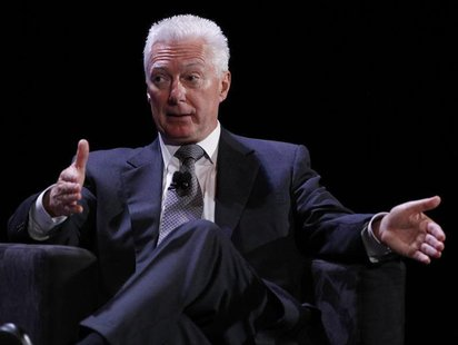 Former Chairman of the Board, President and Chief Executive Officer of Procter & Gamble A.G. Lafley speaks during the World Business Forum i