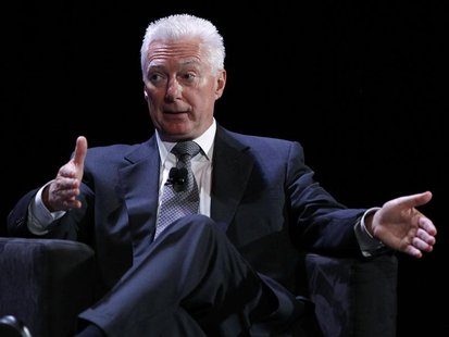 A.G. Lafley speaks during the World Business Forum in New York in this October 6, 2010 file photo. REUTERS/Shannon Stapleton/Files