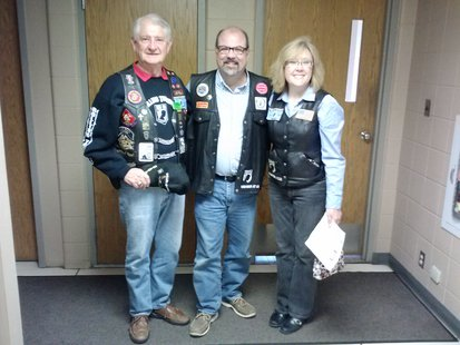 Elizabeth Wood and Dave Nordlund from Rolling Thunder, Chapter 1, South Dakota appeared on the Greg Belfrage (Middle) Show.  (KELO/KELQ Photo)