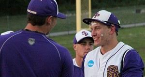 UWSP's Bryton Guckenberg after winning home run Friday