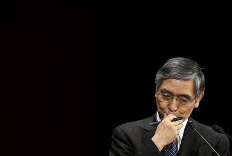 Bank of Japan Governor Haruhiko Kuroda attends the International Conference on the Future of Asia in Tokyo May 24, 2013. REUTERS/Toru Hanai