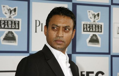 "Best Supporting Male nominee Irrfan Khan of ""The Namesake"" arrives at the 2008 Film Independent's Spirit Awards in Santa Monica, California,"