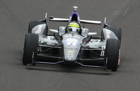 KV Racing Technology driver Tony Kanaan of Brazil takes a curve during the 97th running of the Indianapolis 500 at the Indianapolis Motor Sp