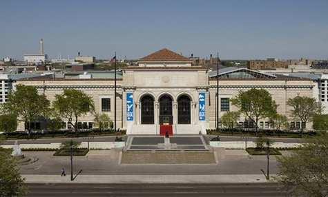 The main entrance of the Detroit Institute of Art. Detroit's E.M. says he may need to walk in and sell some of their collection to settle the city's debt.