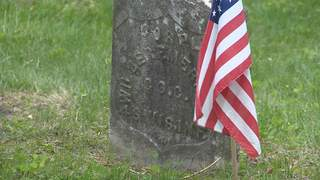 Gravestone at Appleton's Riverside Cemetery. (courtesy of FOX 11).
