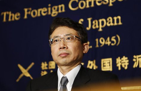 Bank of Japan (BOJ) board member Ryuzo Miyao attends a news conference at the Foreign Correspondents' Club of Japan in Tokyo May 28, 2013. R