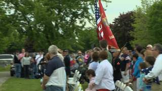 Hundreds attend Memorial Day event at Fort Howard Memorial Park in Green Bay. (courtesy of FOX 11).