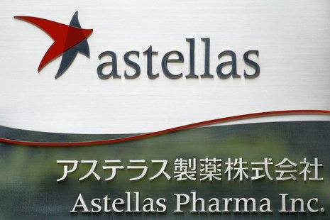 The logo of Japanese pharmaceutical company Astellas Pharma Inc. is seen at the company's headquarters in Tokyo July 17, 2009. REUTERS/Strin