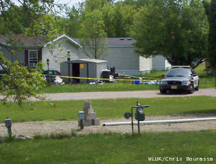 Police investigate a meth lab in Waupaca, May 29, 2013. (courtesy of FOX 11).