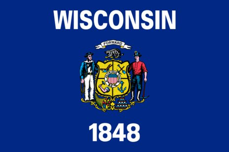 State of Wisconsin flag (courtesy of Wikicommons)