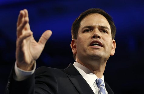 Senator Marco Rubio of Florida speaks at the Conservative Political Action Conference (CPAC) at National Harbor, Maryland in this March 14,