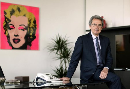 Franco Bernabe, Telecom Italia chairman and CEO, poses in his office in Rome, April 19, 2013. REUTERS/Alessandro Bianchi