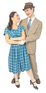 "Rachael Andersen, Sioux Falls, plays Margy, and Michael Heuer, Watertown, plays her love interest, Pat, in the Prairie Repertory Theatre production ""State Fair."""