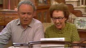 Jean Stapleton with Carroll O'Conner from the opening of All In The Family