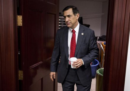 U.S. Representative Darrell Issa (R-CA) walks from a Republican caucus meeting on Capitol Hill in Washington December 18, 2012. REUTERS/Josh