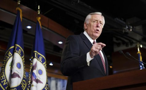 U.S. House Minority Whip Steny Hoyer (D-MD) discusses the fiscal cliff negotiations at the U.S. Capitol in Washington December 27, 2012. REU