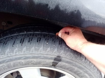 A simple penny test on a tire can tell whether the tire is worn out. (Photo KELO/KELQ)