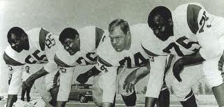 "The Fearsome Four (From Left to Right) Lamar Lundy, Rosey Grier, Merlin Olsen & David ""Deacon Jones"
