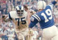Deacon Jones going for a sack against Johnny Unitas.