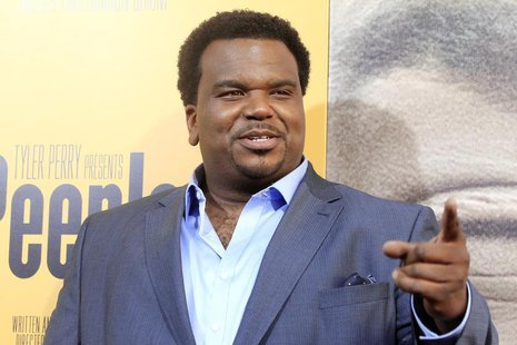 "Actor Craig Robinson, one of the stars of the new film ""Peeples"" produced by Tyler Perry arrives at the film's premiere in Hollywood May 8,"