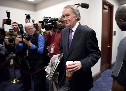 "Congressman Ed Markey (D-MA) arrives to meet with House Democrats and U.S. Vice President Joseph Biden about a solution for the ""fiscal clif"