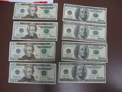 Counterfeit money turned in to Oshkosh police on June 4, 2013. (photo from the Oshkosh Police Department).