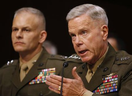 . Commandant of the Marine Corps Gen. James F. Amos testifies about pending legislation regarding sexual assaults in the military at a Senate Armed Services Committee on Capitol Hill in Washington, June More... Credit: REUTERS/Larry Downing