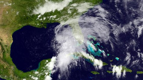 Tropical Storm Andrea is pictured in the Gulf of Mexico in this June 5, 2013 NOAA handout satellite photo. REUTERS/NOAA/Handout