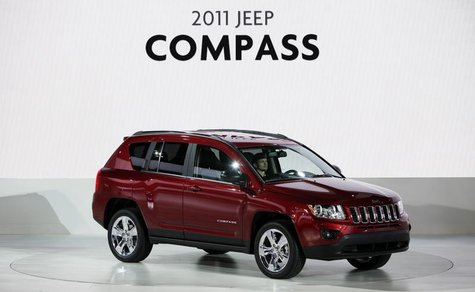 The new 2011 Jeep Compass is revealed during press days for the North American International Auto show in Detroit, Michigan, January 10, 201