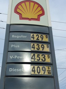 Gasoline at $4.29 per gallon