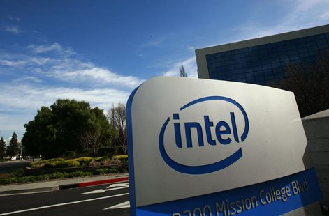 A sign is shown at the entrance to the headquarters of Intel Corporation in Santa Clara, California February 2, 2010. Picture taken February