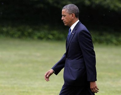 U.S. President Barack Obama walks towards Marine One on the South Lawn at the White House in Washington, June 6, 2013. REUTERS/Larry Downing