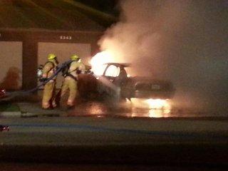 Wahpeton car fire