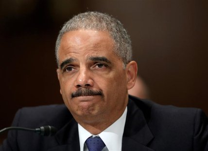 U.S. Attorney General Eric Holder testifies before a Senate Appropriations Commerce, Justice, Science and Related Agencies subcommittee on t