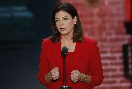 U.S. Senator Kelly Ayotte (R-NH) addresses the second session of the Republican National Convention in Tampa, Florida August 28, 2012. REUTE