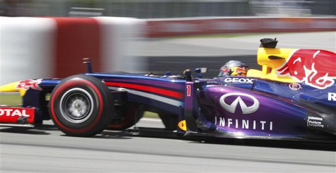 Red Bull Formula One driver Sebastian Vettel of Germany drives during the Canadian F1 Grand Prix at the Circuit Gilles Villeneuve in Montrea