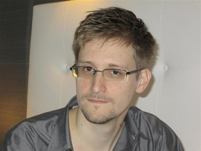 U.S. National Security Agency whistleblower Edward Snowden, an analyst with a U.S. defence contractor, is pictured during an interview with